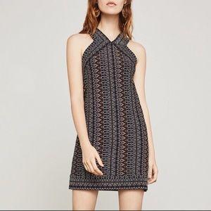 NWT BCBGMaxAzria Sahara Tapestry Knit Halter Dress